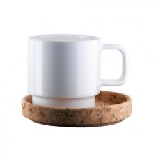 Café Cup on a cork plate