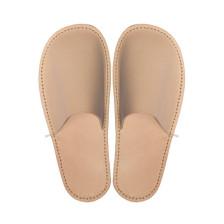 C.A. Lindberg, slippers i skinn – natur